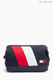 Tommy Hilfiger Blue Chevron Framed Washbag