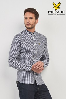 Lyle & Scott Long Sleeve Gingham Check Shirt