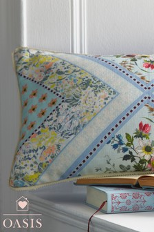 Oasis Floral Ombre Cushion