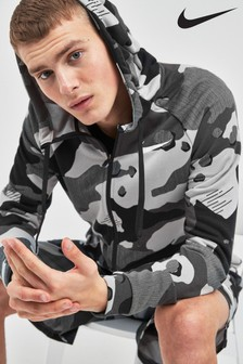 Nike Dry Grey Camo Pullover Hoody