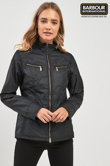 Barbour® International Black Waxed Ivy Jacket