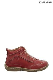 Josef Seibel Red Neele Leather Boots