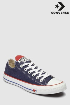 Converse Navy Heart Chuck Low Trainer