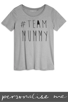 Personalised Team Mummy Printed T-Shirt