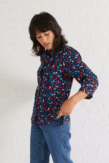 Oliver Bonas Blue Starry Night Print Shirt