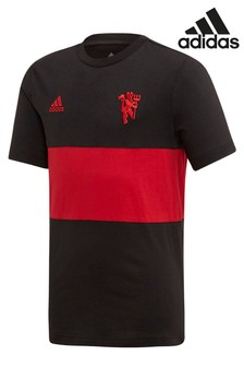 adidas Black Manchester United Football Club Graphic T-Shirt
