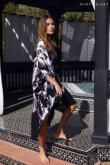 Mint Velvet Black Marcy Print Kimono