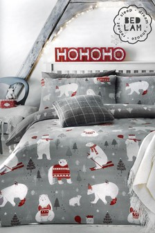Bedlam Polar Bears Christmas Duvet Cover and Pillowcase Set