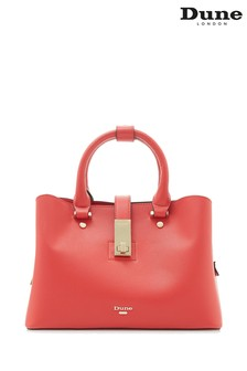 Dune Accessories Red Small Unlined Tote Bag