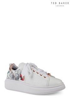 Ted Baker White Floral Trainer