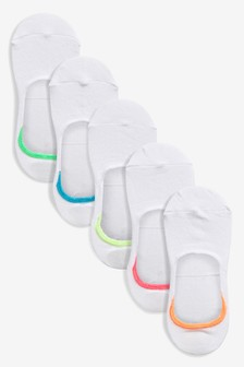 Neon Tip Invisible Trainer Socks