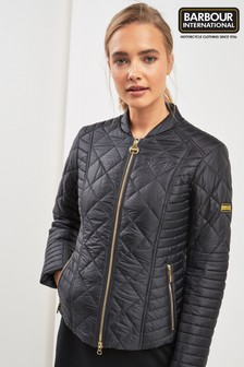 Barbour® International Black Lightweight Biker Quilt Jacket