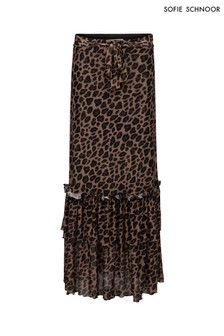 Sofie Schnoor Leopard Print Maxi Skirt