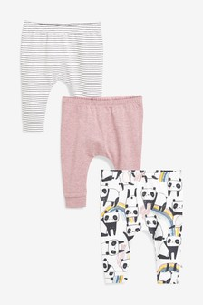Panda Leggings Three Pack (0mths-2yrs)