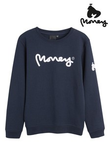 Money Black Label Money Print Crew Sweatshirt