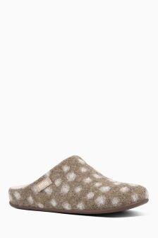 FitFlop™ Beige Wool Chrissie Slipper Mule