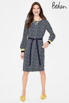 שמלת ג'רזי של Boden מדגם Fawn בצבע נייבי