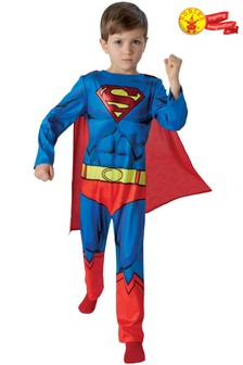 Rubies Deluxe Comic Book Superman® Fancy Dress Costume Small