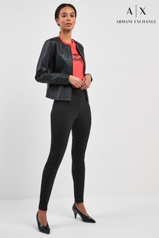 Armani Exchange Black Formal Legging