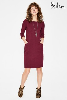 Boden Purple Jasmine Ottoman Dress