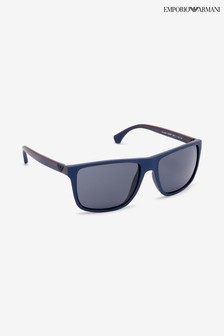 Emporio Armani Top Blue Brown Rubber Sunglasses