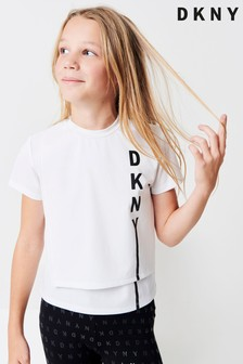 DKNY White T-Shirt With Side Logo