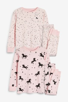 2 Pack Unicorn Character Snuggle Pyjamas (9mths-16yrs)