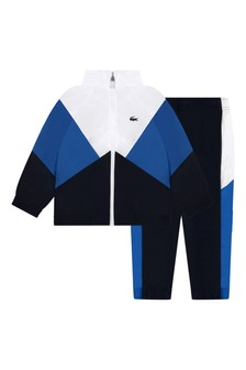 Boys Technical Navy/White Tracksuit