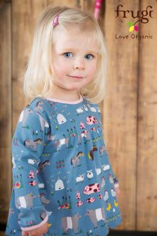 Frugi Blue Sally Hay Days Dress Set