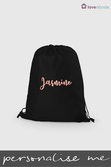 Personalised Scroll Name PE Bag by Loveabode