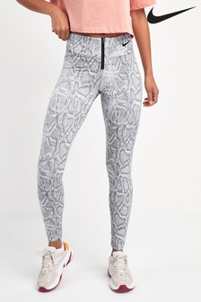 Nike White Python Printed Leggings