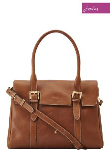 Joules Tan Leather Tote Bag