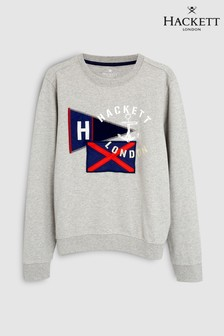 Hackett Kids Grey Flag Sweat