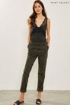 Mint Velvet Khaki Camo Cargo Jean