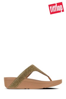 FitFlop™ Gold Lottie Toe Post Holiday Glitz Sandal
