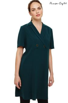 Phase Eight Green Annalesha Double Breasted Swing Dress