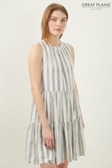 Great Plains White Hollywood Stripe Dress