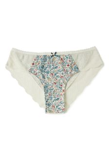 FatFace Ivory Paisley Floral Cheeky Brief