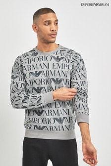 Emporio Armani Logo Print Sweatshirt