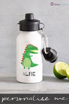 Personalised Dinosaur Drinks Bottle by Loveabode