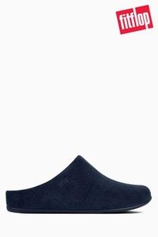 FitFlop™ Blue Shearling Chrissie Slipper Mule