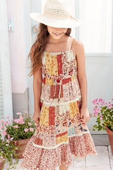 Patch Print Maxi Dress (3-16yrs)