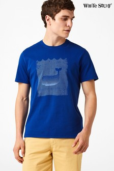 White Stuff Blue Japanese Whale Graphic Tee