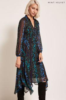 Robe trapèze à imprimé animal Mint Velvet