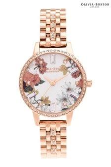 Olivia Burton Sparkle Floral Bracelet Watch