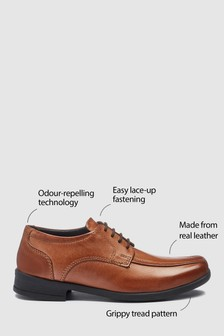 Leather Tramline Lace-Up Shoes (Older)