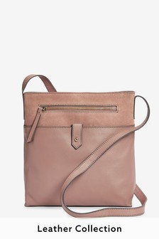 Leather Messenger Across-Body Bag