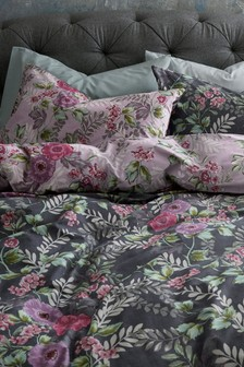 Vintage Floral Duvet Cover and Pillowcase Set