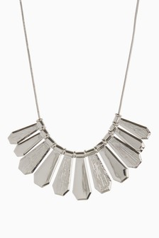 Textured Bar Statement Necklace