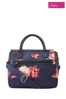 Joules Blue Printed Canvas Everyday Bag